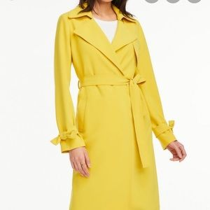 Ann Taylor Trench - Yellow NWT